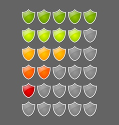 Rating shields vector image vector image