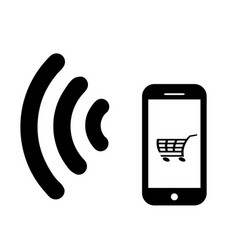 wifi mobile pay vector image