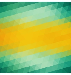 Abstract Green Yellow Triangle Background vector