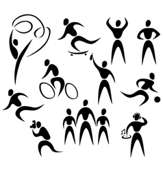 active healthy people vector image