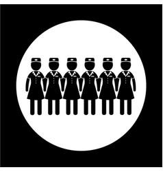 Air hostess icon vector