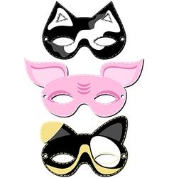 Animal mask design vector