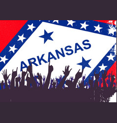 Arkansas state flag with audience vector