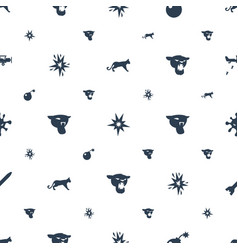 Attack icons pattern seamless white background vector