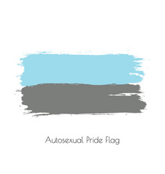 Autosexual lgbt watercolor flag vector