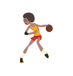 basketball player african american athlete in vector image