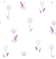 beautiful floral summer seamless pattern vector image