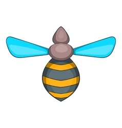 Bee icon cartoon style vector