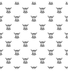 beef steaks pattern seamless vector image