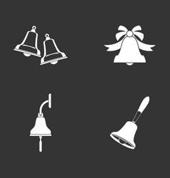 bell icon set grey vector image
