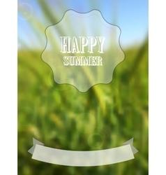 Blurred retro summer background vector