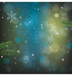 Bokeh Green background vector image