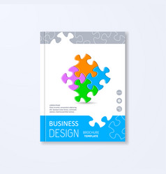 Brochure design template vector