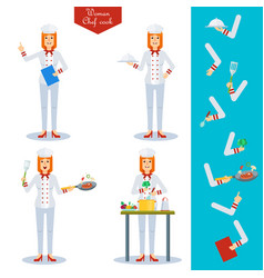 Chef woman character vector