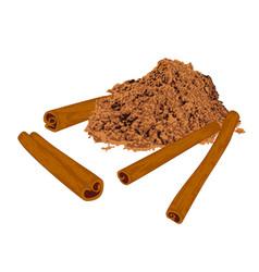 cinnamon sticks and powder spice vector image