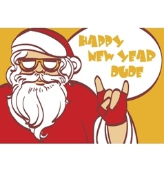 Cool art of Santa Claus Hipster vector