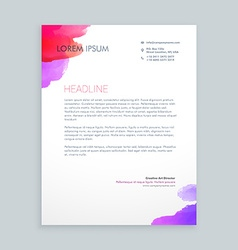 creative ink business letterhead vector image