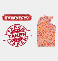Danger and emergency collage australian vector