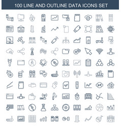 data icons vector image