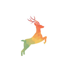 deer geometric vector image