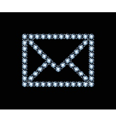 Diamond email icon vector