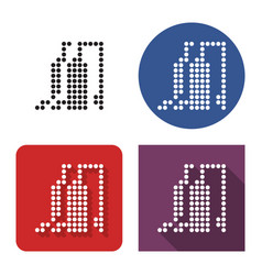 dotted icon gas-distribution station in four vector image