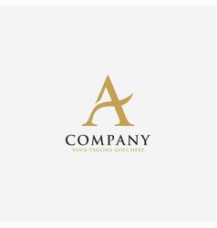 elegant letter a logo icon vector image