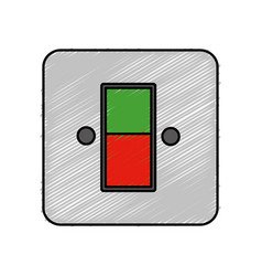 Energy switch and push buttons vector