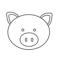 Figure face pig icon vector