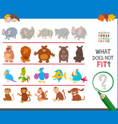 Find animal that not fit in the row vector