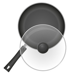 frying pan 02 vector image