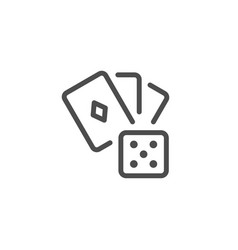 gambling line icon vector image
