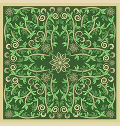 green bandana image vector image