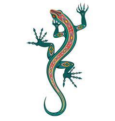 green lizard vector image