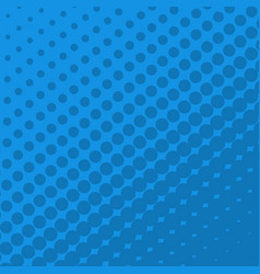 halftone dots on blue background vector image
