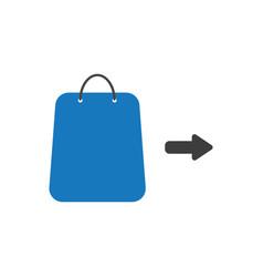 icon concept of shopping bag with arrow vector image