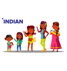 indian generation female people person vector image