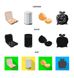 isolated object of dump and sort sign set of dump vector image