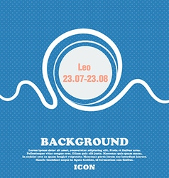 Leo zodiac sign Blue and white abstract background vector image