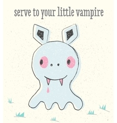 Little vampire in baby style vector