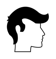 man head silhouette profile male avatar icon vector image