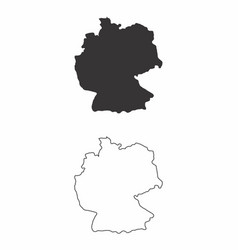 maps of germany vector image