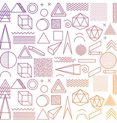 memphis style seamless pattern fashion geometric vector image