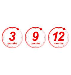 months clock arrow vector image