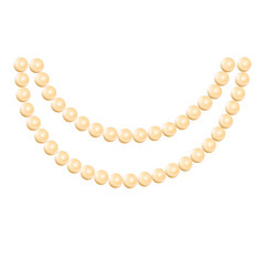 Pearl necklace isolated vector