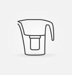 Pitcher water filter linear concept icon vector