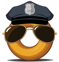 Police Donut vector
