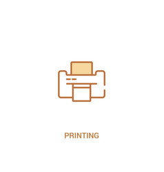 Printing concept 2 colored icon simple line vector