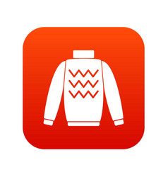pullover icon digital red vector image