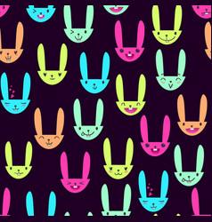 Rabbit seamless pattern-07 vector
